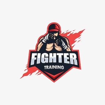 Modèle de vector illustration sport fighter