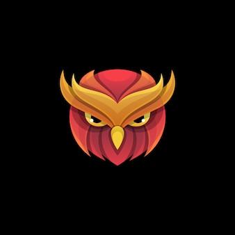 Modèle vectoriel abstrait owl design