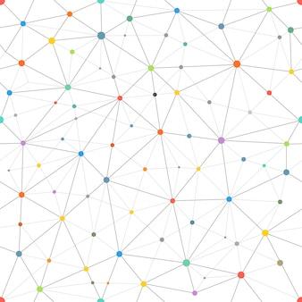 Modèle vectoriel abstrait avec des points de couleur