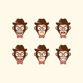 Modèle vectoriel abstrait tête cow-boy