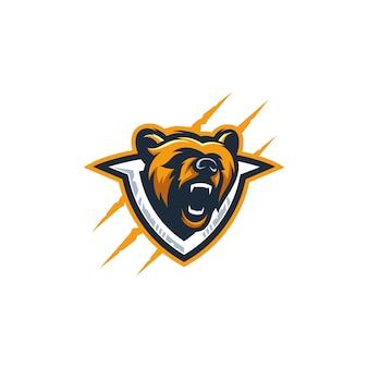 Modèle vectoriel abstrait tête ours coloré illustration