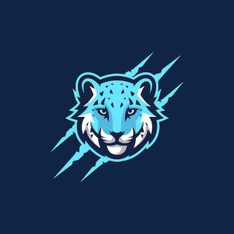 Modèle vectoriel abstrait tête tigre