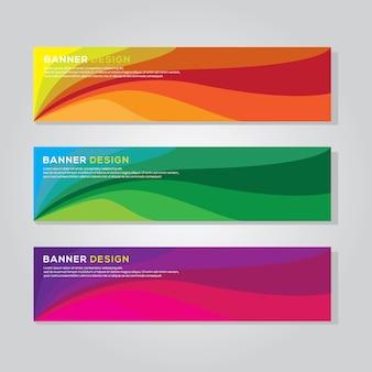 Modèle vectoriel de bannière colorée