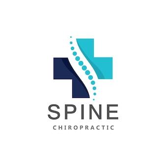 Modèle vectoriel chiropratique colonne vertébrale dot logo icône
