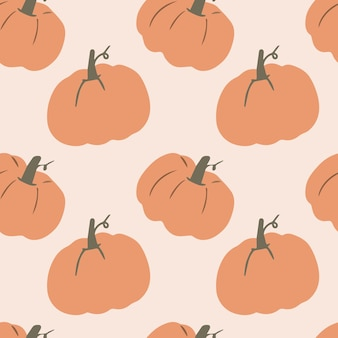 Modèle vectoriel avec une citrouille mignonne pour halloween dans un style dessin animé pour les textiles pour enfants