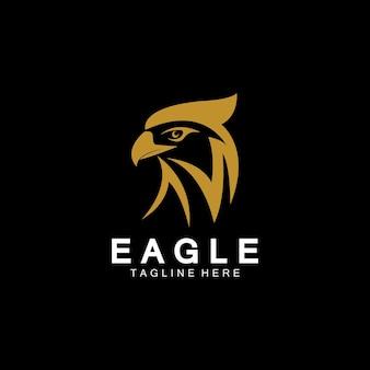 Modèle vectoriel de conception de logo d'icône d'aigle