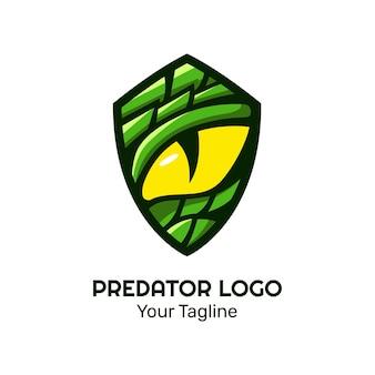 Modèle vectoriel de conception de logo d'oeil de serpent