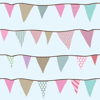 Modèle vectoriel continu de drapeaux pour vos créations - papier d'emballage, textile, papier peint