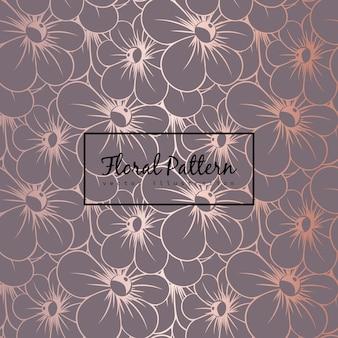 Modèle vectoriel floral avec des fleurs
