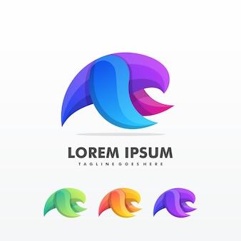 Modèle vectoriel de flying bird abstract logo design