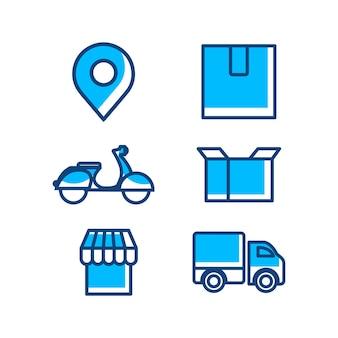 Modèle vectoriel d'icône de livraison et d'expédition
