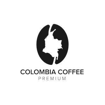 Modèle vectoriel d'icône de logo de café de la colombie