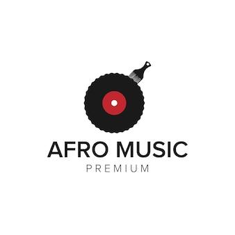 Modèle vectoriel d'icône de logo de musique afro