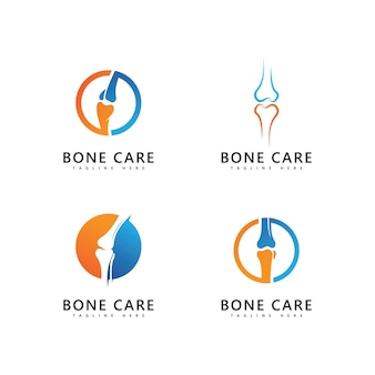 Modèle vectoriel d'icône de logo d'os
