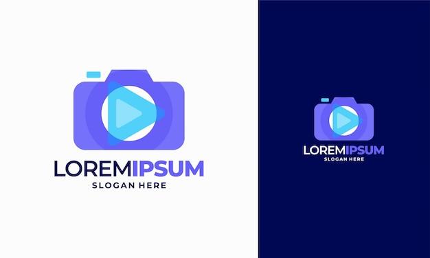 Modèle vectoriel d'icône de logo de photographie d'appareil photo moderne