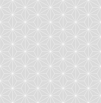 Modèle vectoriel isométrique asanoha japonais gris subtil vintage sans couture