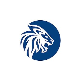 Modèle vectoriel de logo lion