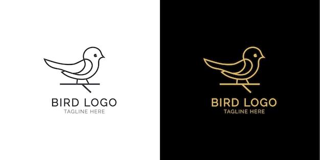 Modèle vectoriel de logo oiseaux modernes