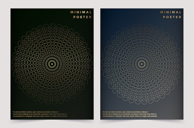 Modèle vectoriel moderne pour brochure brochure annonce flyer