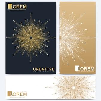 Modèle vectoriel moderne pour brochure, dépliant, dépliant, couverture, catalogue, magazine ou rapport annuel