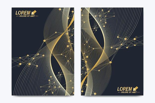 Modèle vectoriel moderne pour brochure dépliant dépliant couverture magazine catalogue ou rapport annuel dans une taille ...