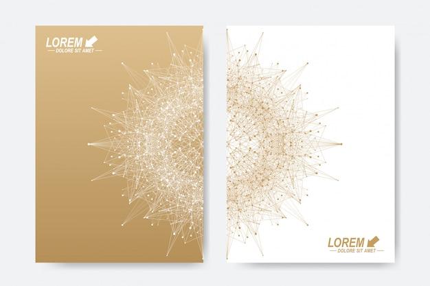 Modèle vectoriel moderne pour brochure, dépliant, dépliant, couverture, magazine ou rapport annuel