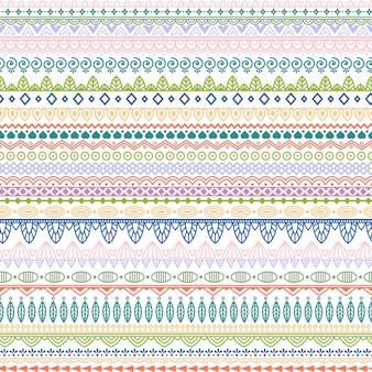 Modèle vectoriel avec des motifs tribaux. pastel doux et ornement élégant