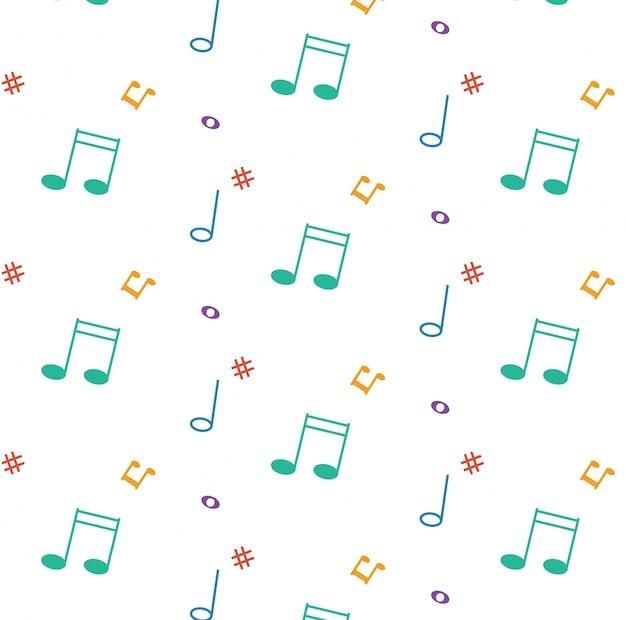 Modèle vectoriel avec des notes de musique