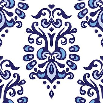 Modèle vectoriel ornemental de luxe vintage sans couture abstraite pour tissu