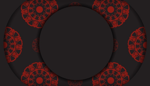 Modèle vectoriel pour carte postale de conception d'impression couleurs noires avec ornement grec. vector préparez votre carte d'invitation avec une place pour votre texte et vos motifs.