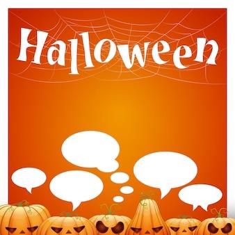 Modèle vectoriel pour la conception. citrouille de dessin animé pour halloween