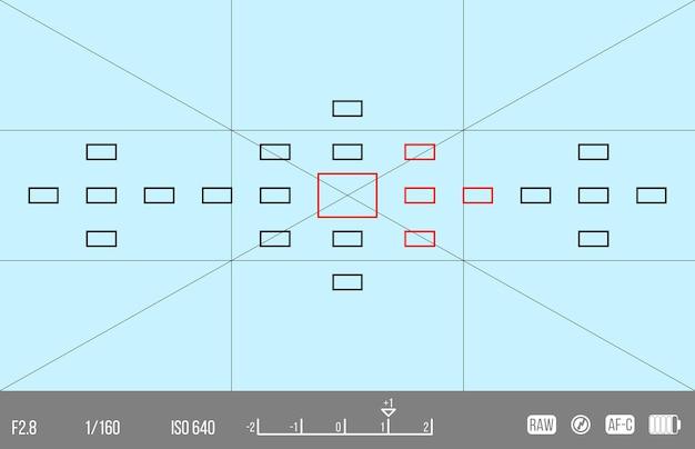 Modèle vectoriel pour votre conception. viseur de caméra. écran de mise au point de la caméra