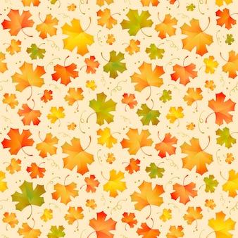 Modèle vectoriel de style automne avec des feuilles d'érable
