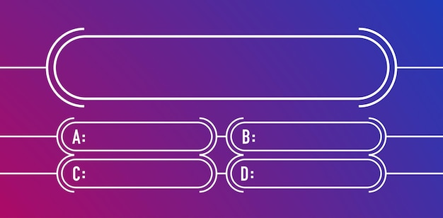 Modèle vectoriel de style moderne de questions et réponses pour le test d'examen scolaire d'une émission de télévision d'examen de jeu de quiz