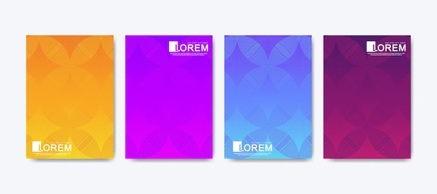 Modèle vectoriel tendance pour brochure, dépliant, dépliant, couverture, bannière, dégradés d'affiche