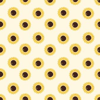 Modèle vectoriel avec tournesols jaunes sur fond jaune avec imprimé léopard sur fond blanc.