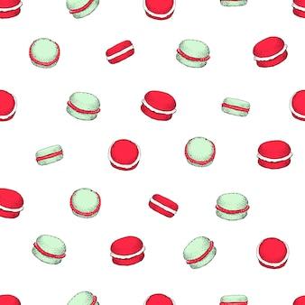 Modèle vectorielle continue avec des cookies macaron