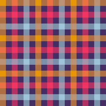 Modèle vectorielle continue de couleur orange tartan