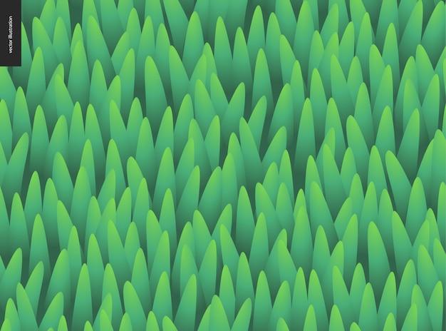 Modèle vectorielle continue d'herbe verte