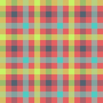 Modèle vectorielle continue multicolore tartan
