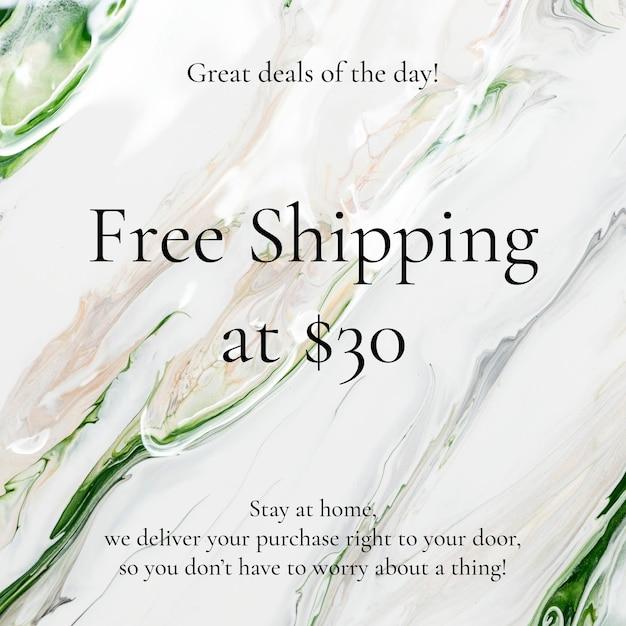 Modèle de vente d'art fluide livraison gratuite pour les publicités sur les réseaux sociaux