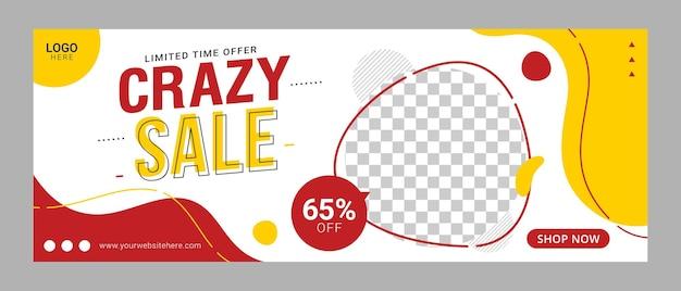 Modèle de vente de bannières et facebook couvrir les annonces graphique vectoriel