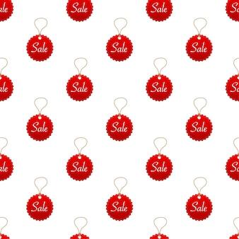 Modèle de vente dans un style abstrait sur fond rouge. illustration vectorielle.