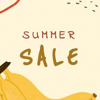 Modèle de vente d'été fruité