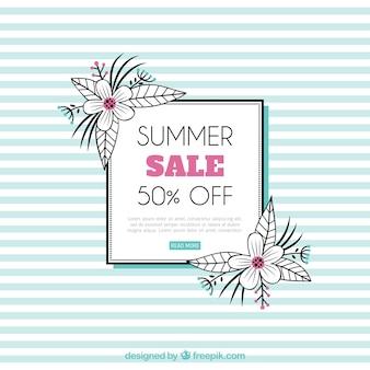 Modèle de vente d'été avec motif de lignes