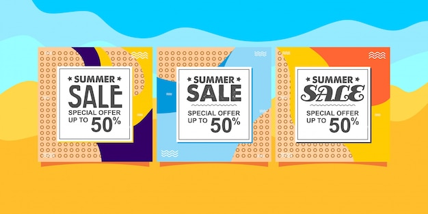 Modèle de vente d'été