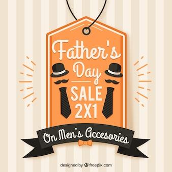 Modèle de vente fête des pères avec des éléments de vêtements
