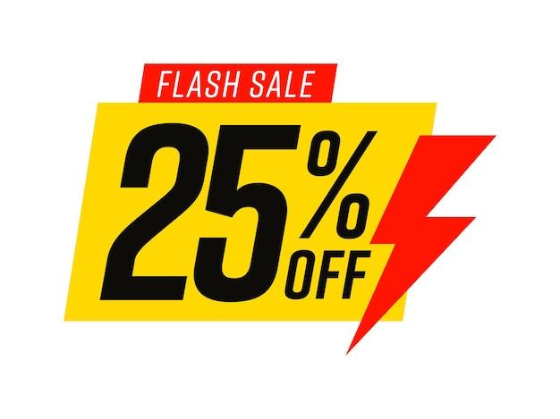 Modèle de vente flash avec 25 pour cent de réduction sur le bonus commercial
