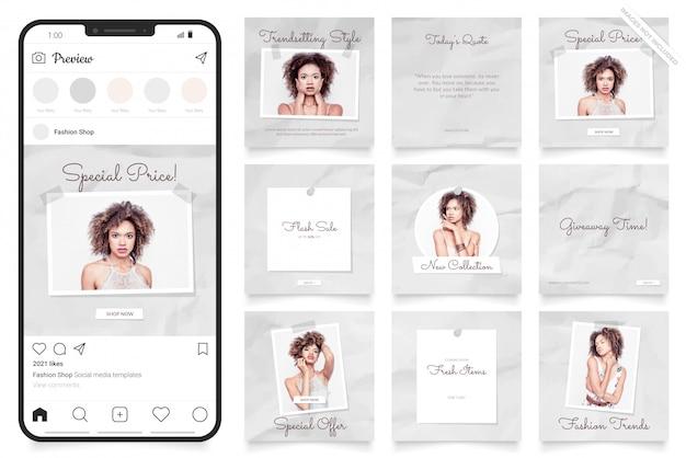 Modèle de vente instagram de belles femmes