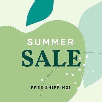 Modèle de vente de memphis de vente d'été